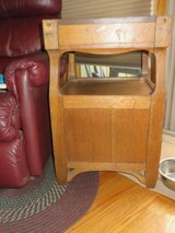 ANTIQUE SOLID SIDE TABLE WITH SHELF in Naperville, Illinois