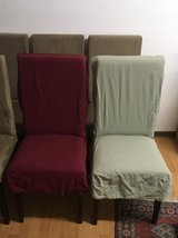 Ultra Suede Dining chairs with 2 sets of covers - NEED TO GO BY SUNDAY! in Stuttgart, GE