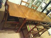 Dining table with 6 chair and corner vitrine in Baumholder, GE