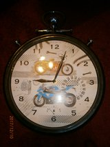 FANTASTIC LARGE BIKE WALL CLOCK NEW NO BOX in Lakenheath, UK