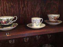 Antique cups/saucers in Okinawa, Japan