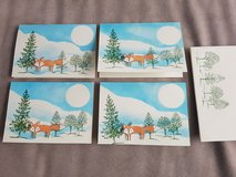 set of 4 handmade winterly birthday or greeting cards with envelopes in Stuttgart, GE