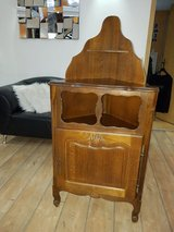 French Oak Corner Cabinet in Stuttgart, GE