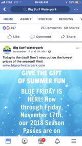 Big Surf Season Passes for 2018 in Fort Leonard Wood, Missouri