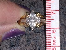 high quality 14 karat gold ring with 3 diamonds in Chicago, Illinois