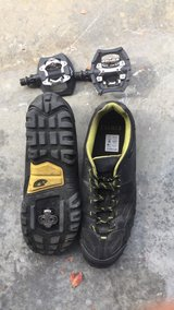 Mountain Bike shoes with pedals. in Oceanside, California
