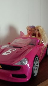 2 Barbies in pink Convertible in Perry, Georgia
