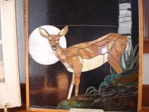"Stained Glass ""Mule Deer at Sunset"" in Wilmington, North Carolina"