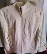 Cream leather jacket in Fort Campbell, Kentucky