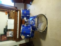 Wooden Shell Drum Set / Kit with blue wrap! in Naperville, Illinois