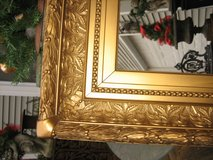 LARGE vintage paris chic gold mirror in Naperville, Illinois