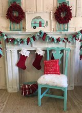 3 Shabby Fur seat Chairs and  table in Kingwood, Texas