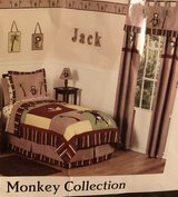 Monkey comforter, twin size in Palatine, Illinois