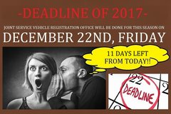 DEADLINE OF 2017 -JSVRO WILL BE DONE FOR THIS SEASON ON DECEMBER 22ND(FRIDAY)!!- in Okinawa, Japan