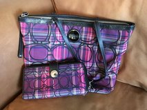Coach plaid purse and wallet in Camp Lejeune, North Carolina