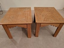 Matching solid wood end tables in Temecula, California