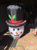 Christmas snowman head inflatable in New Lenox, Illinois