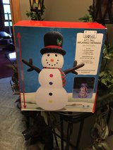 Christmas 8 foot snowman inflatable in New Lenox, Illinois