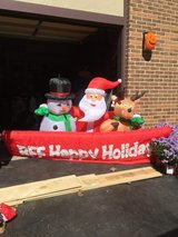 Christmas inflatable in New Lenox, Illinois