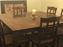 Large Bar Height Dining Table with 6 Chairs in Warner Robins, Georgia