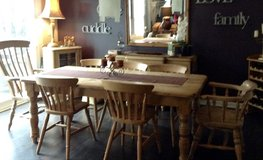 Old English Pine Dining Room Table in Naperville, Illinois