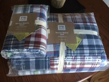 Brand New Pottery Barn Mariner Madras Twin Comforter and sham in Aurora, Illinois