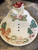 Cute snowman platter in Plainfield, Illinois