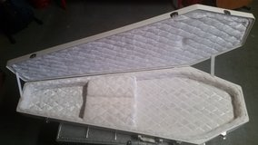 WHITE COFFIN CASE For Electric Guitar or Bass HARD TO FIND!!! in Chicago, Illinois