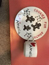 customized Santa plate and cup! in Perry, Georgia