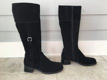 Women's Black Suede Knee Length Boots - La Canadienne Brand Size 7.5 in St. Charles, Illinois