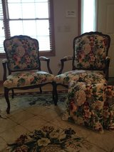 Queen Anne style chairs, includes to pillows for couch in Chicago, Illinois