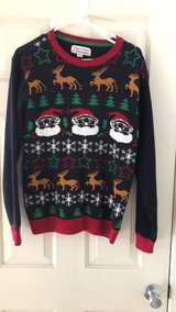 Ugly Christmas Sweater Large contest reindeer santa snowflakes in Camp Pendleton, California