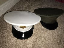 White vinyl and green dress hat size 7 in Camp Pendleton, California
