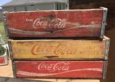 3 Vintage Coke Crates and 1 Merita Bread Crate in Byron, Georgia