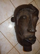 vintage African Art hand carved tribal wooden mask in The Woodlands, Texas