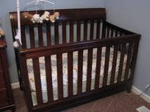 Baby Crib - Dark wood by Delta (Haven style) in Naperville, Illinois
