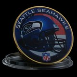 SEATTLE SEAHAWKS Gold Plated Challenge Coin *** NEW *** in Tacoma, Washington