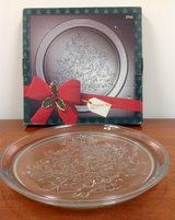*NEW* Glass Christmas Tree Serving Tray (w/box) in Moody AFB, Georgia