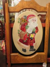 BEAUTIFUL!  Custom Crafted Handpainted Santa Wall Mantle Plaque in Westmont, Illinois