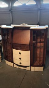True Antique W. F. LTD Kingsland EST. 1888 Shabby Chic Desk Curio Cabinet in Camp Pendleton, California