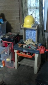 Tool bench, tools, hat, 3 drawer for tools, and fake lumber-take all in Schaumburg, Illinois