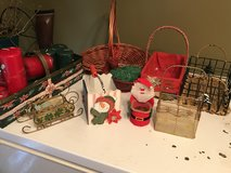 Christmas baskets and candles in DeRidder, Louisiana