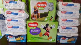 Huggies  Diapers Slip on & wipes $40! in Tacoma, Washington