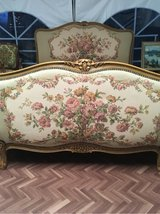 Vintage french upholstery bed with beautiful roses in Ramstein, Germany