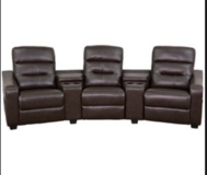 5 pc Home Theater Recliners with Console in Fort Benning, Georgia