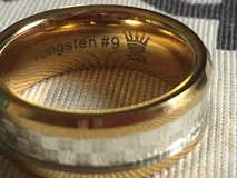 Men wedding band tungsten #9 in Cherry Point, North Carolina
