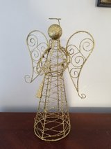 Gold glitter angel Christmas decoration in Naperville, Illinois