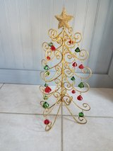 Gold glitter foldable christmas tree decoration in Plainfield, Illinois