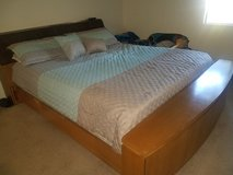 Cal king bed frame in Travis AFB, California