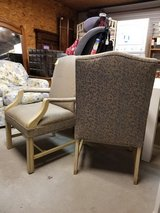 Gold & Silver Print Chair #1594-2913 2 Available in Camp Lejeune, North Carolina